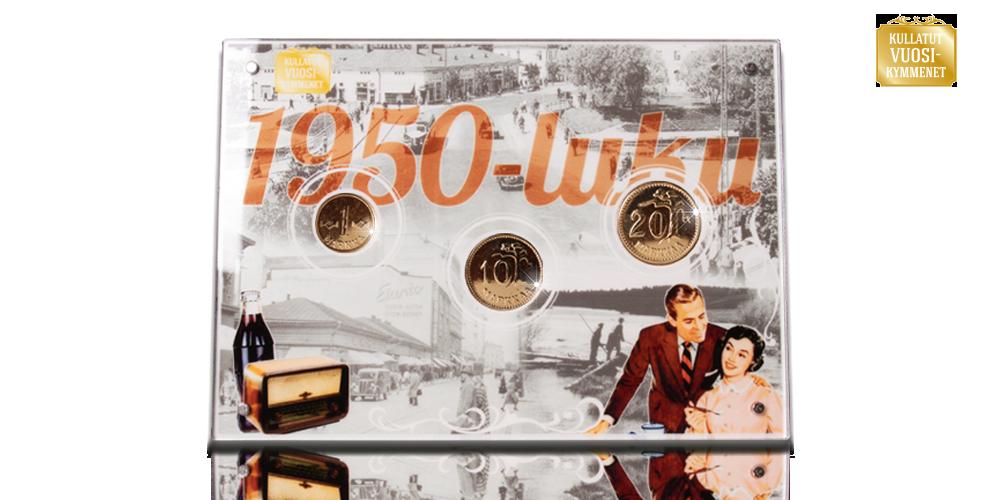 1950-luku akryyli kullatuilla markoilla