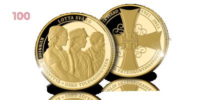 Kultainen Lotta Svärd 100 vuotta mitali