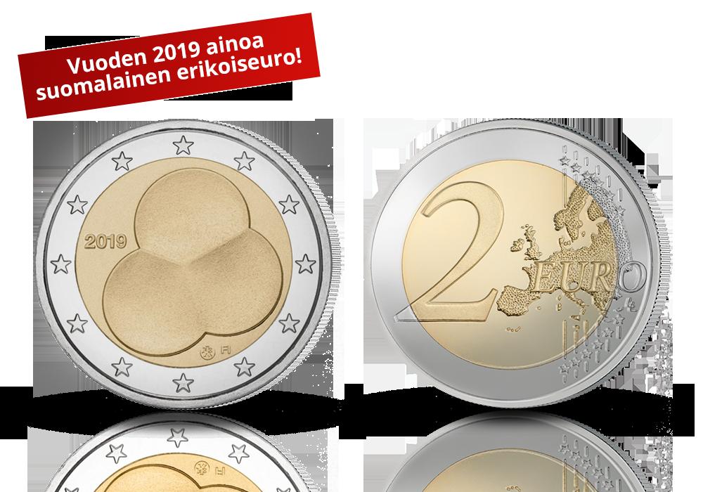 Kuukausitarjouksena Suomalaiset erikoiseurot -kokoelman aloitus vuoden 2019 ainoalla erikoisrahalla