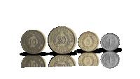 Neljä leijonarahaa vuosilta 1918-1940