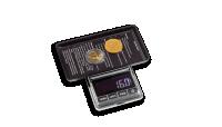 Digitaalinen LIBRA 100 -kolikkovaaka sisältää myös kätevän punnitusalustan