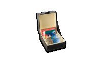 Musta LOGIC -arkistolaatikko muunneltavalla sisäosalla