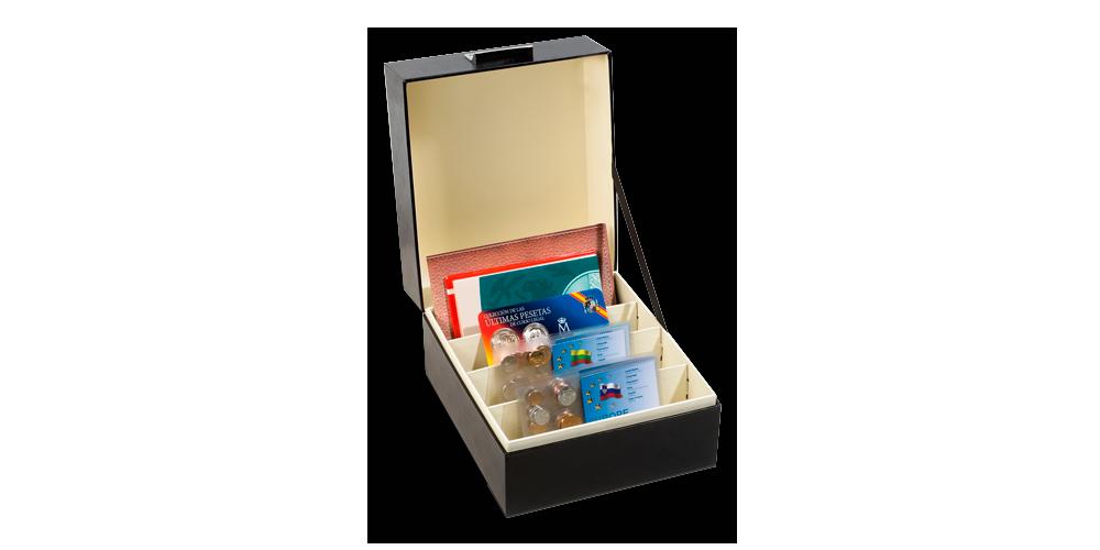 C6 kokoinen LOGIK -arkistolaatikko muunneltavalla sisäosalla