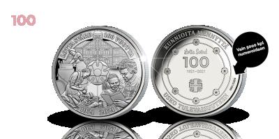 Lotta Svärd 100 vuotta -muistomitali numeroitu