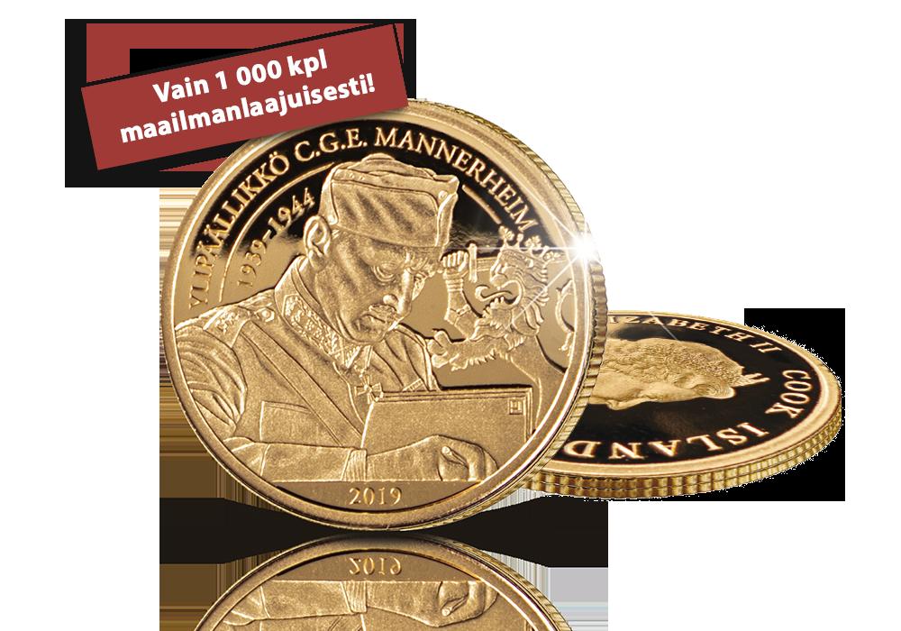 Puhdasta 99,99 % kultaa Mannerheimin kunniaksi!