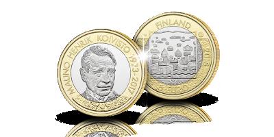 Presidentti Mauno Koivisto 5€ proof 2018 -erikoislyönti