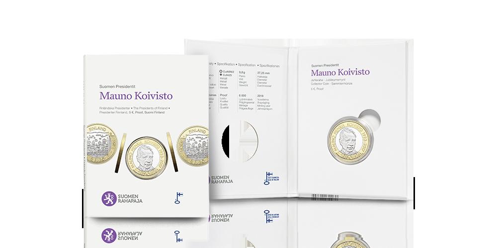 Juhlaraha toimitetaan alkuperäisessä keräilypakkauksessa, jossa on lueteltuna myös tekniset tiedon ja Koiviston historiaa