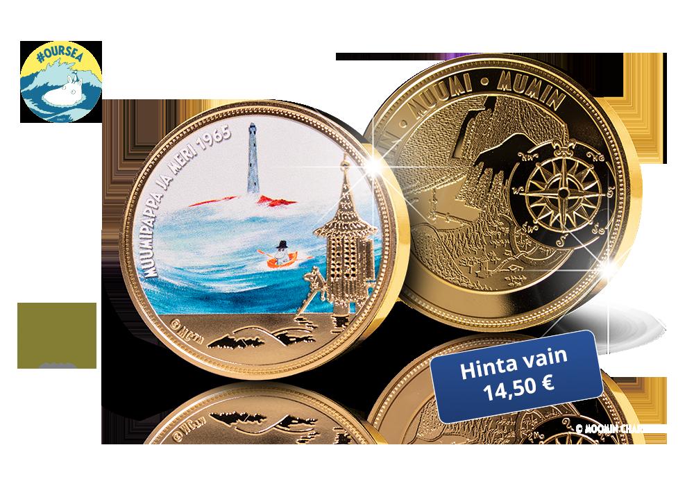 Muumipappa ja meri -mitali auttaa Itämerta