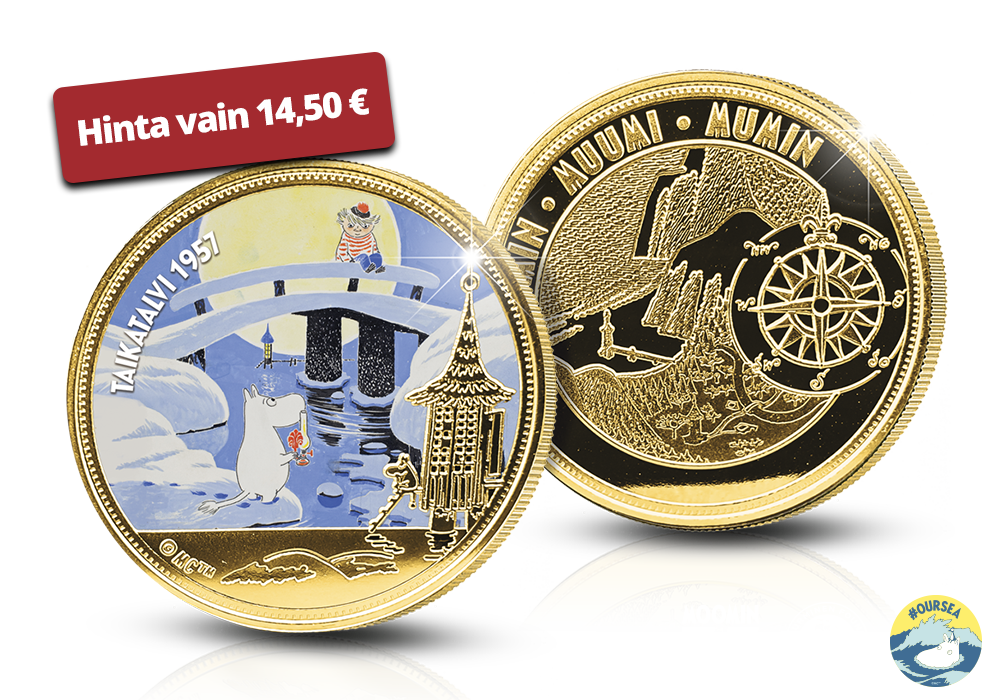 Virallinen Muumi-mitali 24 karaatin kultauksella!