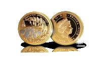 Virallinen Muumi-kultaraha osaplatinoinnilla