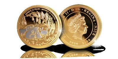 Osaplatinoitu Muumit ja suuri tuhotulva -kultaraha 1 unssi