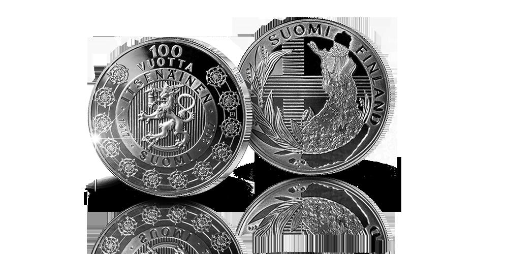 Numeroitu Itsenäinen Suomi 100 vuotta -juhlamitali