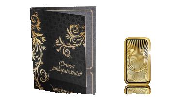 Onnea juhlapäivänäsi! -kultaharkko 1 g Lapin kultaa