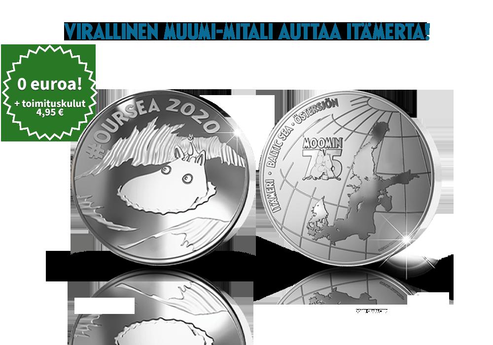 Autetaan Itämerta virallisella Muumi-mitalilla