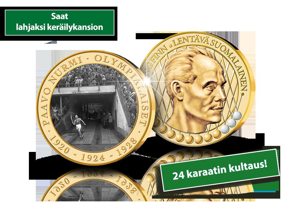 Paavo Nurmen uraa kertaava mitalikokoelma