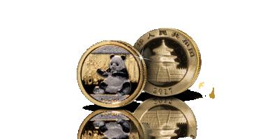 Panda -kultaraha osaplatinoinnilla