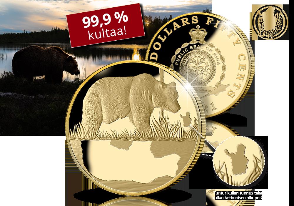 Karhu-kultaraha 100 % suomalaista kultaa