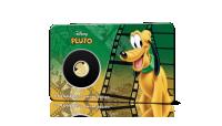 Virallinen Disney Pluto-keräilyraha on pakattu ilmeikkääseen korttiin.