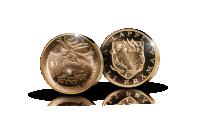 Poro-mitali kultahipuilla
