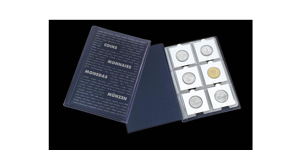 Sininen ROUTE -taskukansio 60 rahapidikkeelle