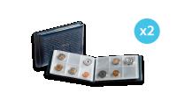 Tummansininen ROUTE -taskukansio 48 rahalle tuplapakkaua