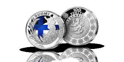 Itsenäinen Suomi 100 vuotta 2017 värillinen mitali
