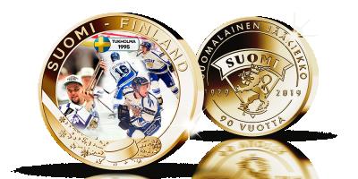 Suomalainen jääkiekko 90 vuotta -kokoelma: MM '95 -mitali