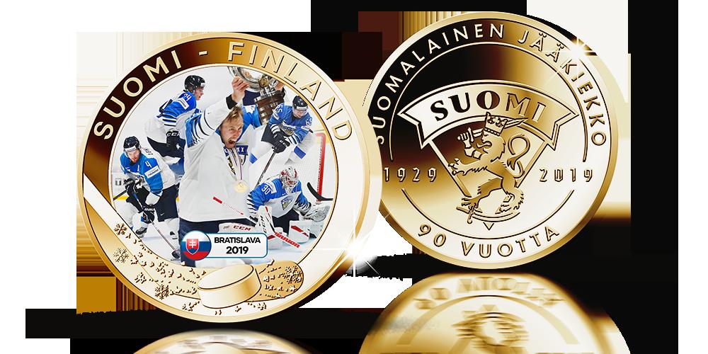 Suomen jääkiekon MM-mestaruus 2019 mitali