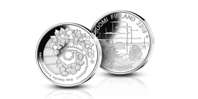 Suomalainen saunakulttuuri 10 euroa hopeajuhlaraha