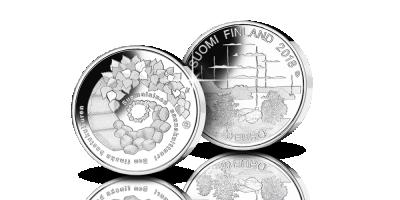 Suomalainen saunakulttuuri 20 euroa hopearaha