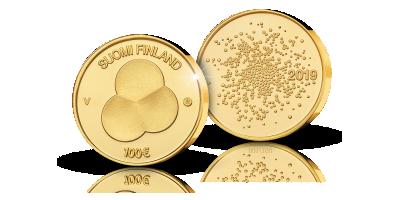 Suomen Hallitusmuoto 1919  -kultaraha 100 €