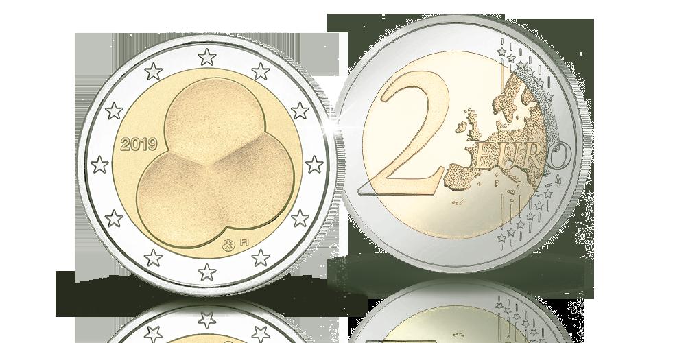 Suomen Hallitusmuoto 1919 -erikoisraha 2 euro 2019
