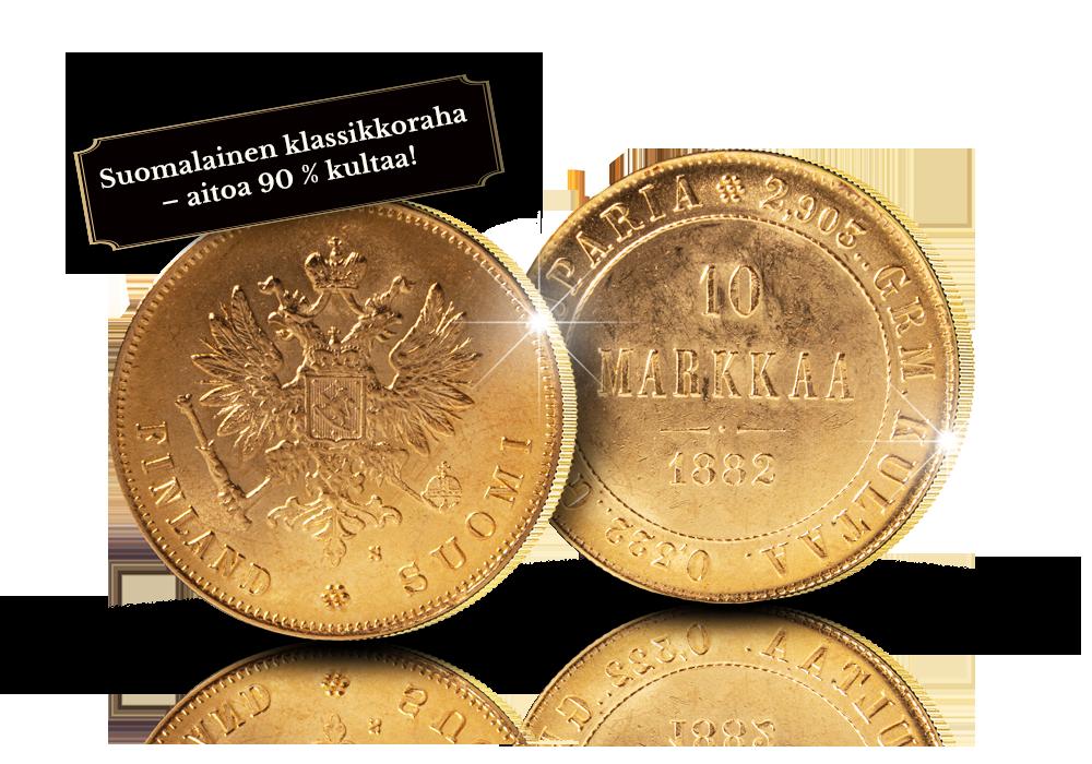 Suomen ensimmäinen 10 markan kultaraha