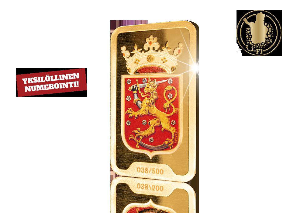Suomen leijonavaakuna -harkon kulta on Tunturikultaa suoraan Suomen Lapista