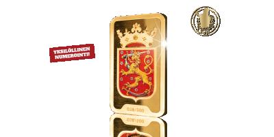 Suomen Leijonavaakuna -kultaharkko 2,5 g