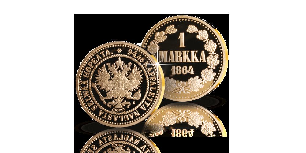 Suomen ensimmäinen metallimarkka muistolyöntinä