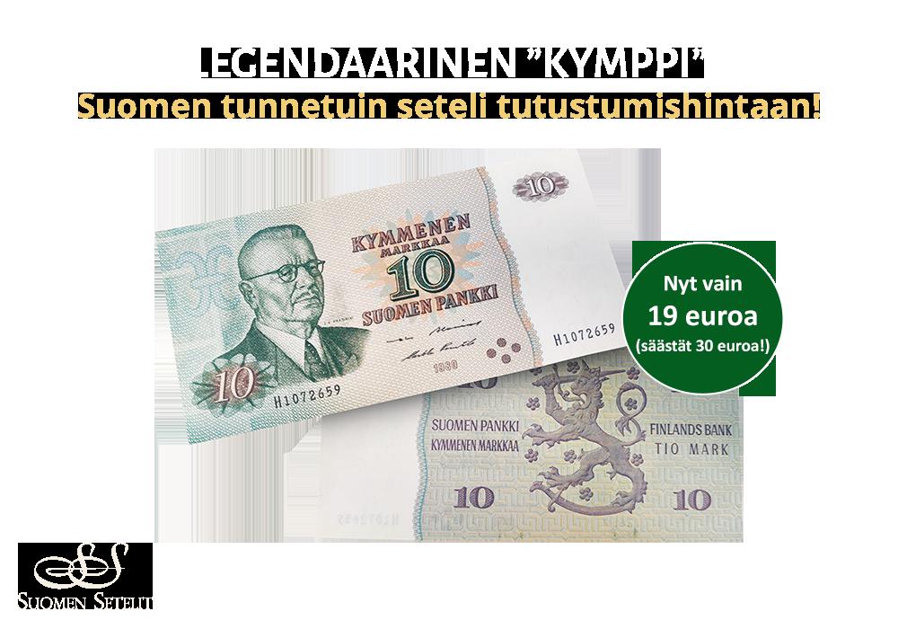 Suomen tunnetuin seteli tutustumishintaan!