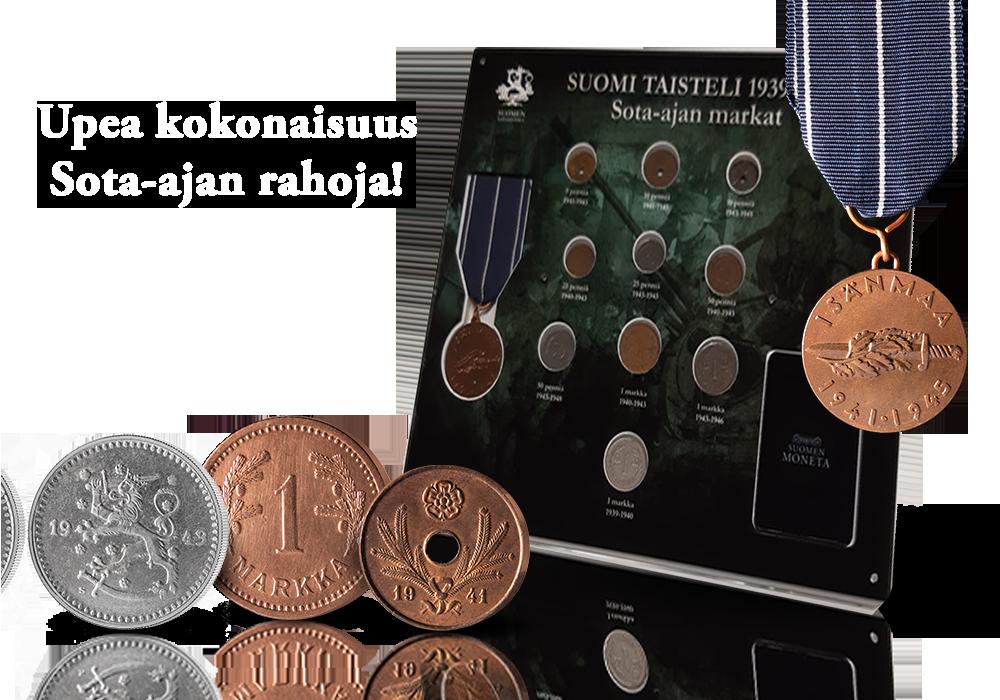 Upea kokonaisuus Suomen sota-ajan markkoja