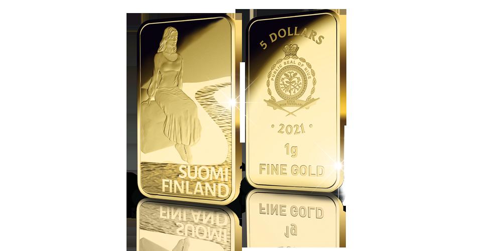 Suomi-neidon kultaiset kasvot -kokoelma, Pohjolan lumo -harkko