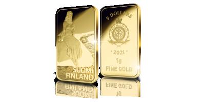 Suomineidon kultaiset kasvot -kokoelma: Pohjoisen lumo -harkko