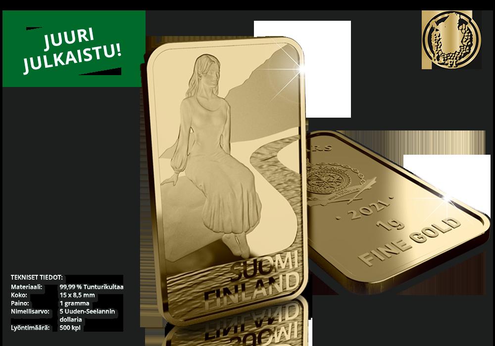 Uusi upea harkkokokoelma 99,99 % kultaa