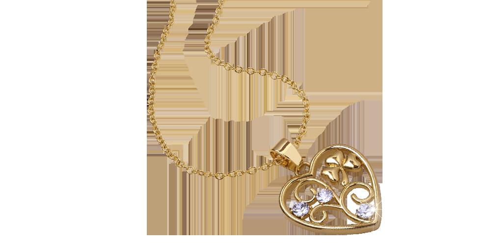 Swarovski-kristallein koristeltu sydänriipus