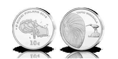 Tapio Wirkkala 10€ proof 2015 -juhlaraha