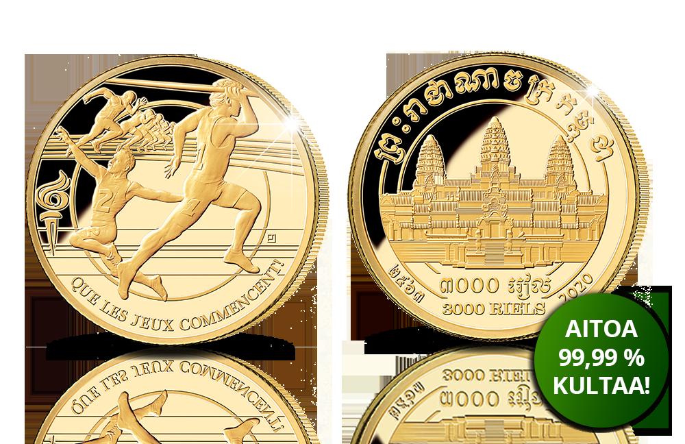 Tokio 2020, keihäänheitto 1/10oz –kultaraha