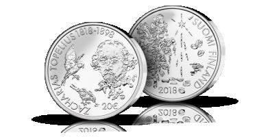 Topelius 200 vuotta 20 € -juhlaraha