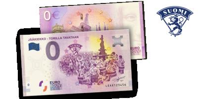 Jääkiekko - torilla tavataan 0 € -seteli