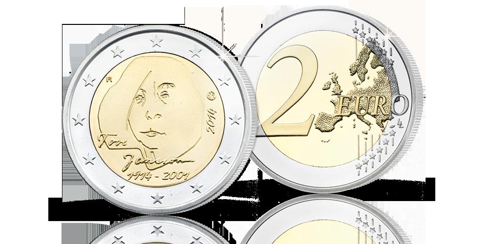 Tove Janssonia kunnioittava 2 euron erikoisraha