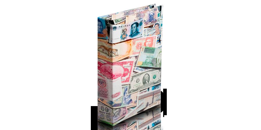 Leuchtturmin värikäs VARIO BILLS -setelikansio 300 setelille