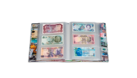 Leuchtturmin VARIO BILLS -setelikansio sisältää 100 läpinäkyvää sivua