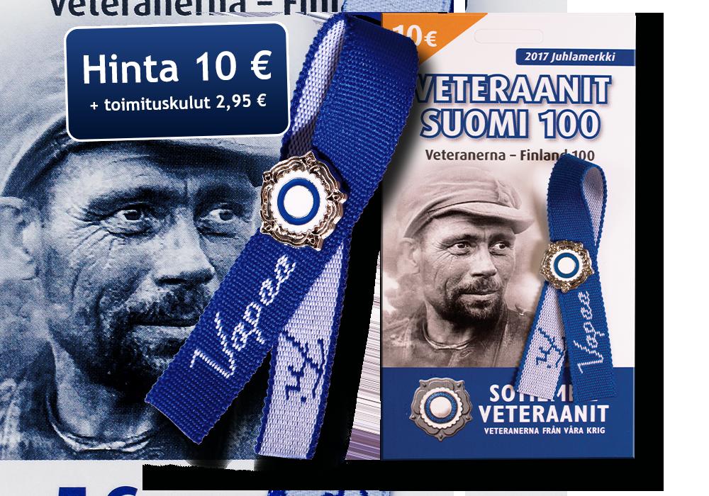 Veteraanit Suomi 100 Juhlamerkki